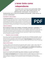 5 Claves Para Tener Éxito Como Profesional Independiente - Copia