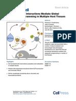 Diet-microbiota Interactions Mediate Global Epigenetic Programming in Multiple Host Tissues
