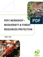 PEFC Workshop - Biodiversity and Forest Resources Protection