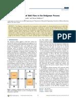 Docslide.us Dynamical Analysis of Melt Flow in the Bridgman Process