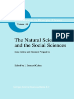 (Boston Studies in the Philosophy of Science 150) I. Bernard Cohen (Auth.), I. Bernard Cohen (Eds.)-The Natural Sciences and the Social Sciences_ Some Critical and Historical Perspectives-Springer Net
