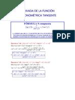 Derivada de La Función Trigonométrica Tangente