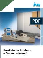 Folder Sistemas e Produtos Knauf 2015