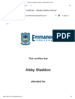 professional standards certificate - mindset maths seminar