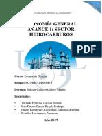 Economía General Avance 1 Hidrocarburos