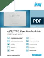 Knauf Aquapanel Chapa8mm Cimenticia