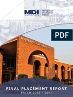 MDI Gurgaon Final Placement Report 2015-2017