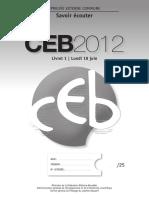 Evaluation certificative - CEB - 2008 - Dossier de présentation à l attention de l enseignant (ressource 4946)