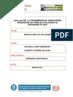 A. Transmisión de Vibraciones Orig.s en Túneles Util Plaxis