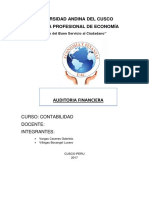 AUDITORIA FINANCIERA MONOGRAFIA