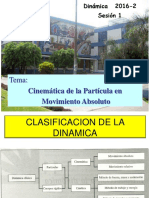 Sesion 1-2016-2 Cinematica de La Particula