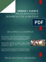 Éticas Aplicadas y desarrollo de la Bioética.