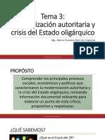 Tema 3 Modernización Autoritaria y Crisis Del Estado Oligárquico