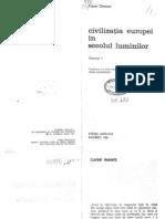Pierre Chaunu, Civilizatia Europei in Secolul Luminilor Vol. I, 2010