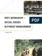 PEFC Workshop - Social Issues in Forest Management