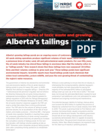 EDC and NRDC One Trillion Litres of Toxic Waste and Growing Albertas Tailings Ponds June 2017