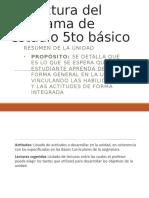Estructura Del Programa de Estudio Quinto BASICO