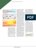 Singing in the Brain Mirror Neuron