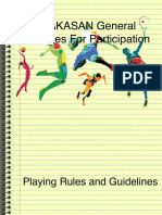 PALAKASAN General Guidelines for Participation