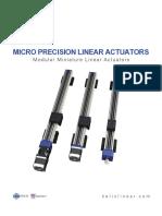 Micro Precision Linear Actuators Catalog