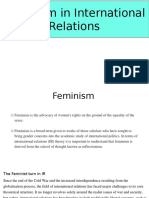 Feminism in international relation (IR)