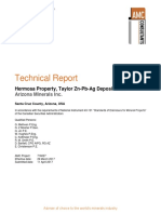 Tech Report Pea Taylor Deposit
