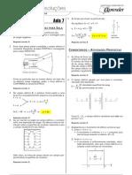 Física - Caderno de Resoluções - Apostila Volume 2 - Pré-Universitário - Física2 - Aula07
