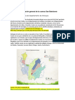 Información General de La Cuenca San Bartolomé