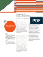 Swift Messaging Factsheet Swift Webaccess End Customers