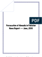Monthly Newsreport - Ahmadiyya Persecution in Pakistan - June, 2010