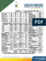 Lista de Precios Carpinteria