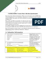 Preguntas Identificadas COSMIC-IsBSG Benchmarking 2014 - Concise DCQuestionnaire