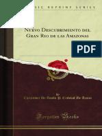 ACUÑA, Christoval de. Nuevo Descubrimiento Del Gran Rio de Las Amazonas