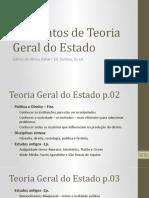 Slides Sintetizando o Livro Elementos Da Teoria Geral Dp Estado
