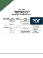 Jdwl Acara IPITS S2 Genap 2015