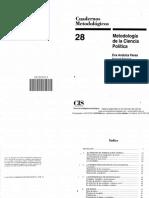 Metodologia de La Ciencia Politica Anduiza Et Al.