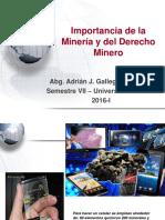 Derecho Minero - Importancia de La Minería