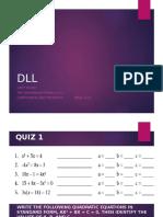 DLL Presentation Discriminant
