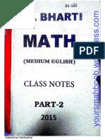 Ss Bharti Advanced Math