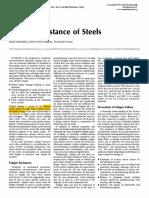 Fatigue Resistance of Steels