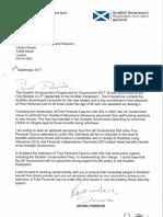 Shona Robison Letter