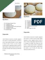 Preparación de Masa Para Pizza Ligera