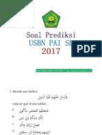 Soal Prediksi Usbn Pai 2017