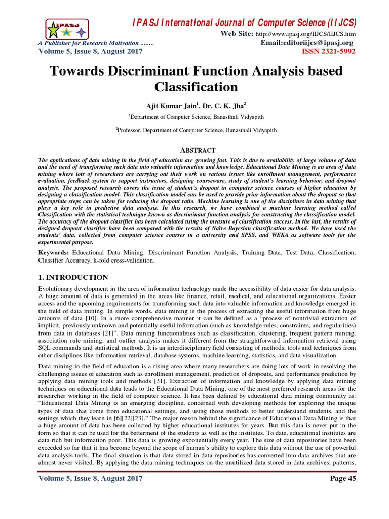 the classification of outliers psychology essay Classification essays are commonly used in business, science, advertising, and editorials however, at this level, a classification essay can be subjective sometimes classification essays are humorous or sarcastic choose a topic of interest to you and your audience use your imagination.