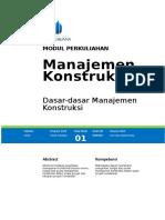 Modul Manajemen Konstruksi [TM1]