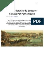 A Confederação Do Equador - ARTIGOS