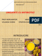 Unguente Cu Antibiotice