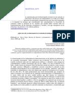 """Raúl O. Fradkin, """"¿Qué tuvo de revolucionaria la revolución de independencia?"""", Nuevo Topo. Revista de historia y pensamiento crítico, N° 5, Buenos Aires, 2008"""