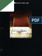 McGraw-Edison SPI Lighting Monitor Wall Light Series Brochure 1983