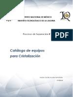Catálogo de Equipos de Cristalización